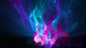 Превью обои абстракция, огонь, розовый, голубой, фиолетовый, узоры