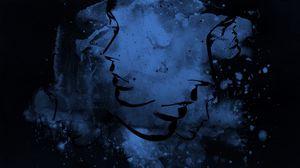 Превью обои абстракция, синий, черный, свет