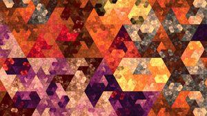 Превью обои абстракция, геометрия, мозаика, разноцветный