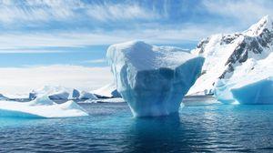 Превью обои айсберг, антарктида, льдина, океан