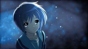 Превью обои аниме, девушка, милая, сияние