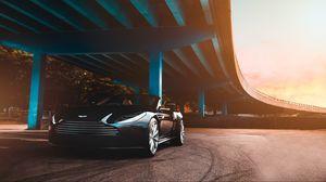 Превью обои aston martin, автомобиль, роскошный, мост