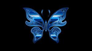 Превью обои бабочка, блеск, яркий, хроматический, призматический