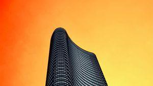 Превью обои башня, здание, архитектура, минимализм, небо, оранжевый