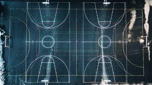 Превью обои баскетбольная площадка, разметка, геометрия