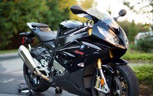 Превью обои bmw s1000rr, bmw, байк, спортивный, мотоцикл, черный