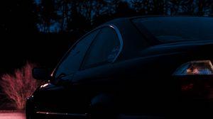 Превью обои bmw, вид сбоку, автомобиль, ночь, темнота