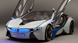 Превью обои bmw, vision, efficientdynamics, концепт, вид спереди