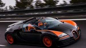 Превью обои bugatti, grand sport, roadster, vitesse, wrc edition, veyron