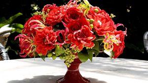 Превью обои букет, цветы, ваза