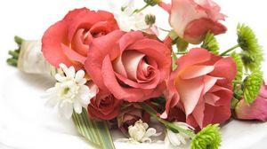 Превью обои букет, композиция, красивый, розы, цветы