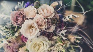 Превью обои букет, цветы, оформление, композиция