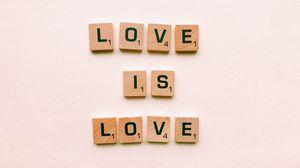 Превью обои буквы, надпись, любовь, скрабл