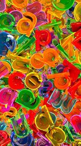 Превью обои буквы, разноцветный, паттерн, объём