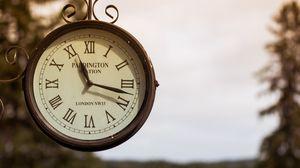 Превью обои часы, старинные, уличные