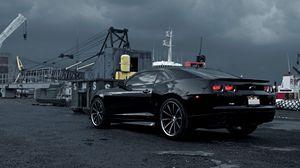Превью обои chevrolet, camaro, черный, автомобили, машины, авто