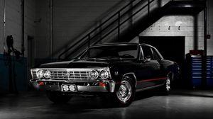 Превью обои chevrolet, черный, стильный, авто
