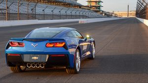 Превью обои chevrolet, corvette, stingray, c7, indy 500, pace car