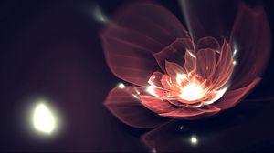Превью обои цветок, фон, темный, линии, блеск