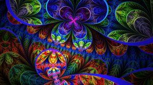 Превью обои цветы, фон, разноцветный, узоры