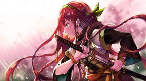 Превью обои девушка, меч, воин, аниме