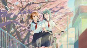 Превью обои девушки, подруги, форма, школьницы, аниме, арт