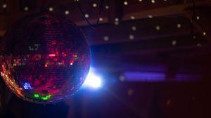 Превью обои диско-шар, свет, блеск, сфера, зеркальный