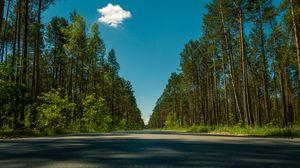 Превью обои дорога, деревья, лето