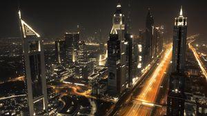 Превью обои дубай, архитектура, здания, ночь