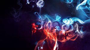 Превью обои дым, цвет, фон, пелена
