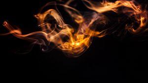 Превью обои дым, облако, свечение, темный