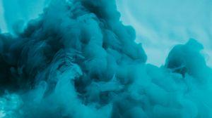 Превью обои дым, облако, синий, абстракция