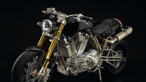 Превью обои ecosse heretic titanium, ecosse moto works, мотоцикл, самый дорогой мотоцикл в мире