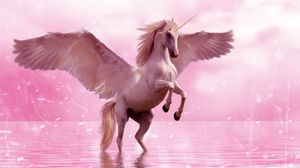 Превью обои единорог, крылья, лошадь, фантазия