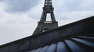 Превью обои эйфелева башня, башня, лестница, архитектура