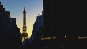 Превью обои эйфелева башня, франция, париж, вечер