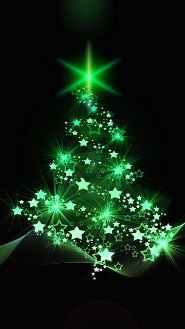 360x640 Обои елка, рождество, новый год, арт