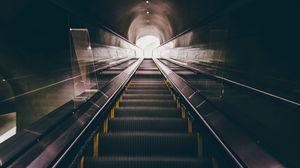 Превью обои эскалатор, лестница, подземный