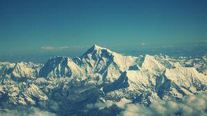 Превью обои эверест, горы, небо, вершины
