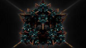 Превью обои фигура, структура, запутанный, объем, 3d