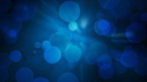 Превью обои фон, капли, свет, круги, синий