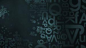 Превью обои фон, текстура, поверхность, темный, буквы