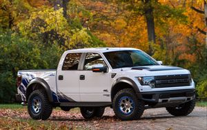Превью обои ford, f-150, raptor, тюнинг, roush performance, пикап, phase 2, roush