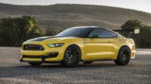 Превью обои ford, mustang, gt350, shelby, желтый