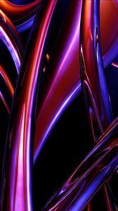 Превью обои формы, блеск, полосы, яркий