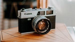 Превью обои фотоаппарат, ретро, винтаж, размытость