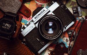 Превью обои фотоаппараты, камеры, фотография, аксессуары
