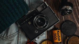 Превью обои фотоаппараты, линзы, старый, ретро