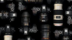 Превью обои фотоаппараты, объективы, фото, оборудование