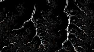Превью обои фрактал, черный, разветвленный, темный, ползущий